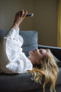Women on her phone
