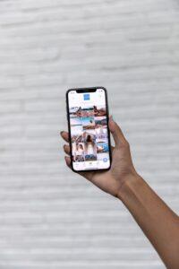 Photos on a phone