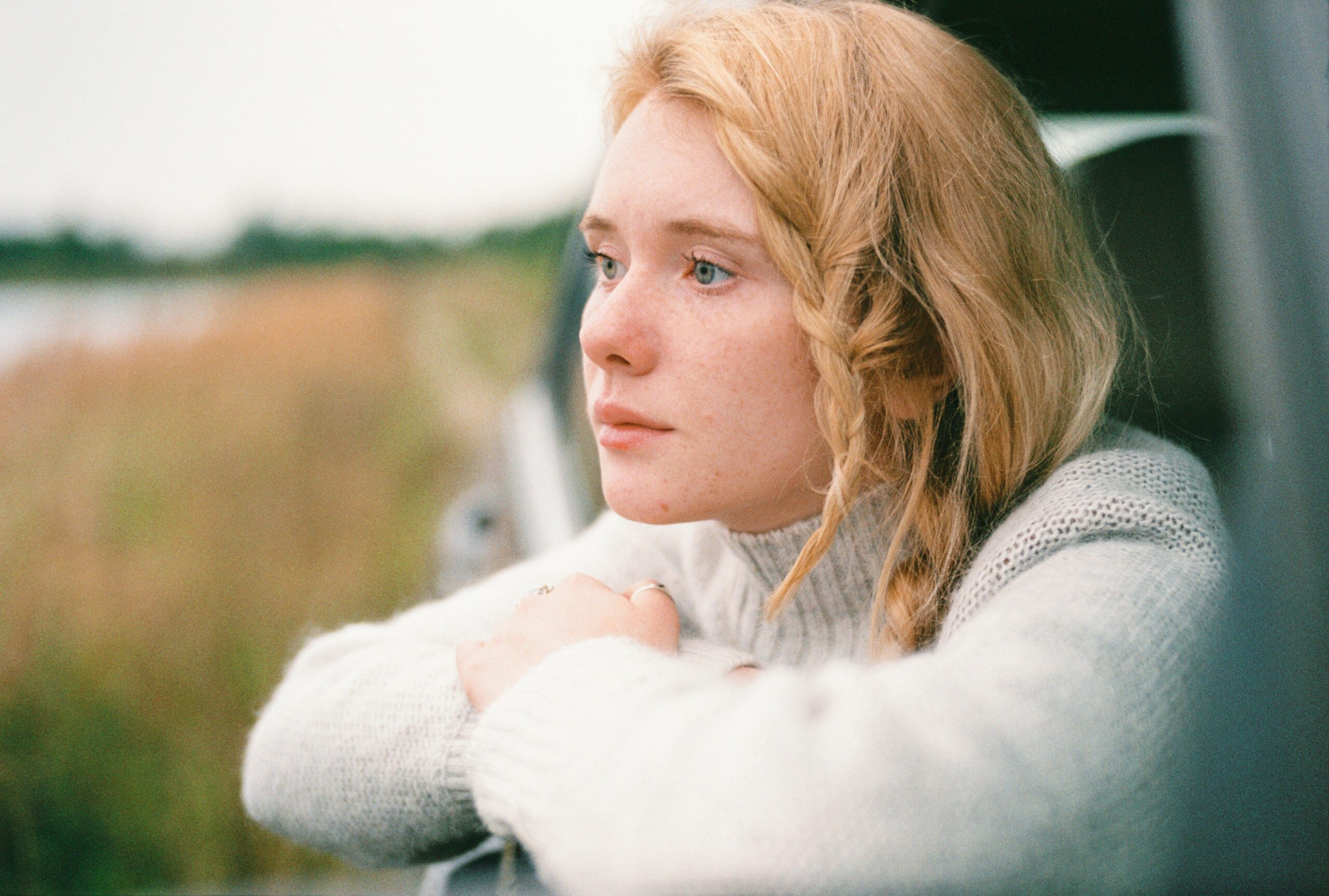 A Young Woman Gazing Out